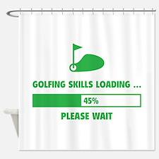 Golfing Skills Loading Shower Curtain