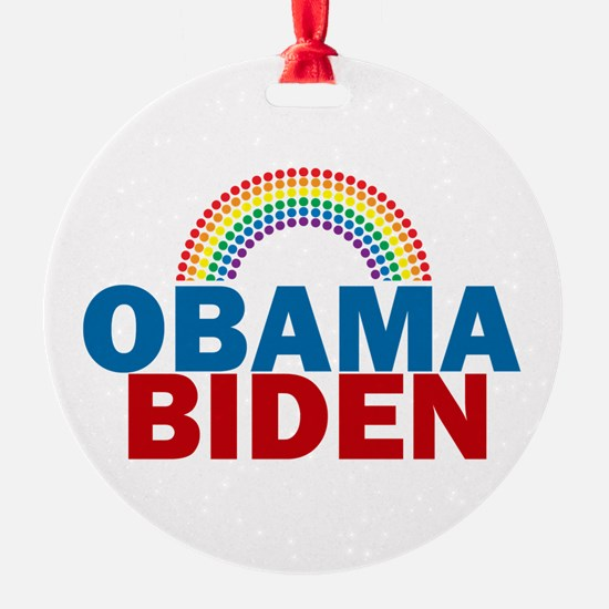 Obama Rainbow Ornament