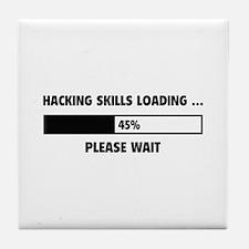 Hacking Skills Loading Tile Coaster