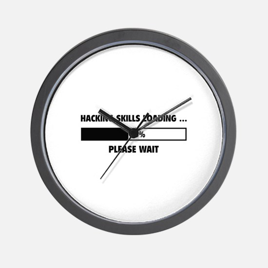 Hacking Skills Loading Wall Clock