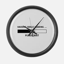 Hacking Skills Loading Large Wall Clock