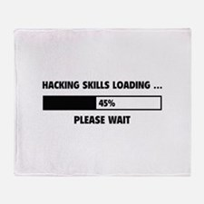 Hacking Skills Loading Throw Blanket