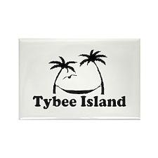 Tybee Island GA - Palm Trees Design. Rectangle Mag
