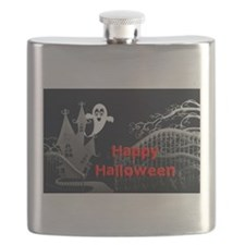 Haunted House Halloween Flask