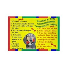 3-Property Laws -BlackTanCoonhound Magnets