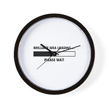 Brilliant Idea Loading Wall Clock