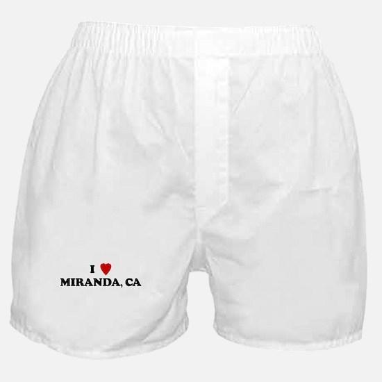 I Love MIRANDA Boxer Shorts