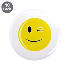 "Smiley 3.5"" Button (10 pack)"