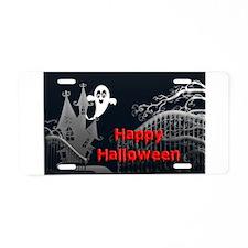 Haunted House Halloween Aluminum License Plate