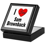 I Love Sam Brownback Keepsake Box