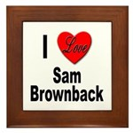 I Love Sam Brownback Framed Tile