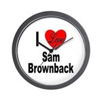 I Love Sam Brownback Wall Clock