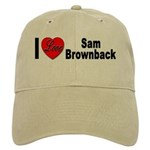 I Love Sam Brownback Cap