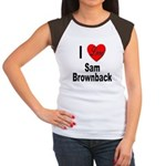 I Love Sam Brownback Women's Cap Sleeve T-Shirt