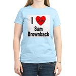 I Love Sam Brownback Women's Pink T-Shirt