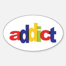 online auction addict Oval Decal