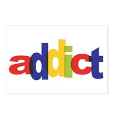 online auction addict Postcards (Package of 8)