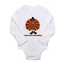 Cute Babies 1st thanksgiving Long Sleeve Infant Bodysuit