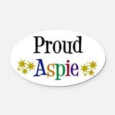 Proud Aspie Oval Car Magnet