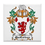 MacCartron Coat of Arms Tile Coaster
