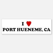 I Love PORT HUENEME Bumper Bumper Bumper Sticker