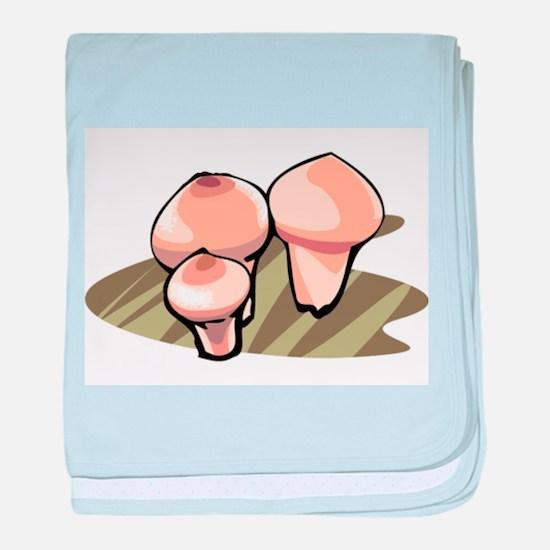 Mushroom baby blanket