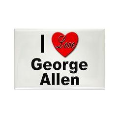I Love George Allen Rectangle Magnet (10 pack)