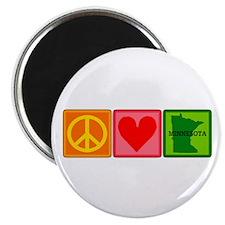 Peace Love Minnesota Magnet
