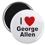 I Love George Allen Magnet