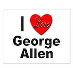 I Love George Allen Small Poster