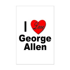 I Love George Allen Posters