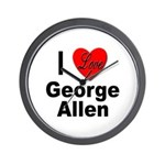 I Love George Allen Wall Clock