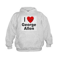 I Love George Allen (Front) Hoodie