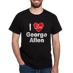 I Love George Allen (Front) Black T-Shirt