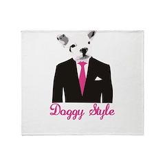 Doggy Style Throw Blanket