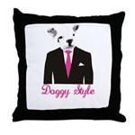 Doggy Style Throw Pillow