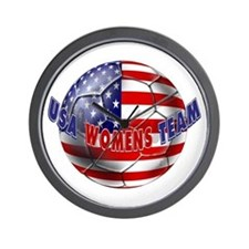 US Womens Soccer Wall Clock