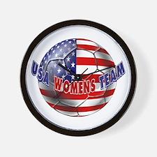 US Womens Soccer Wall Clock