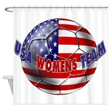 US Womens Soccer Shower Curtain