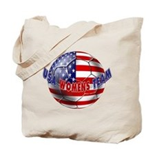 US Womens Soccer Tote Bag