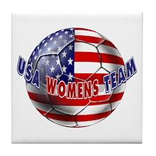 US Womens Soccer Tile Coaster