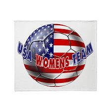 US Womens Soccer Throw Blanket