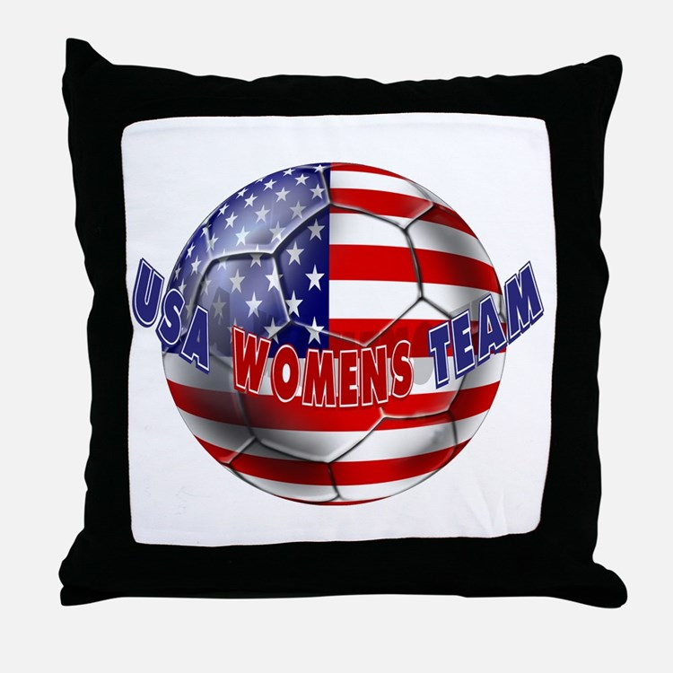 US Womens Soccer Throw Pillow