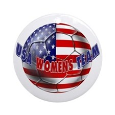 US Womens Soccer Ornament (Round)