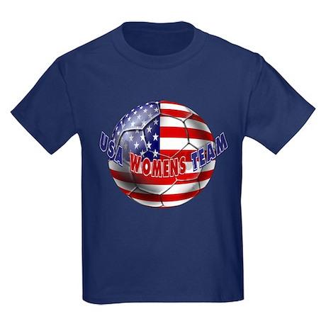 US Womens Soccer Kids Dark T-Shirt