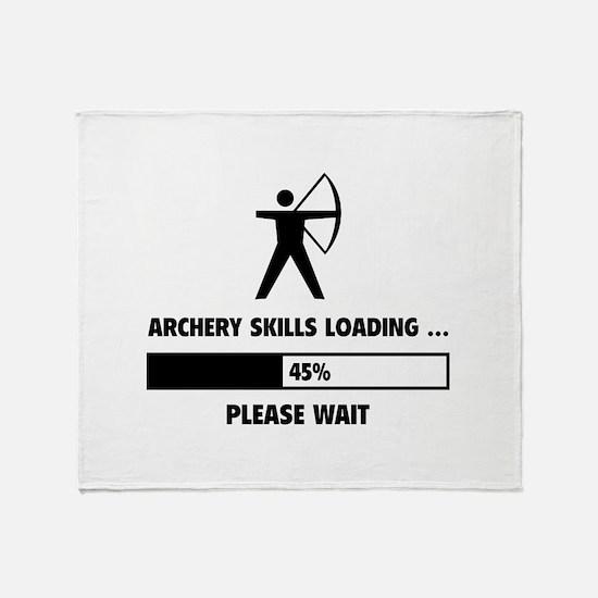 Archery Skills Loading Throw Blanket
