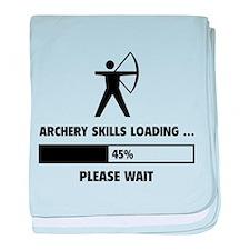 Archery Skills Loading baby blanket