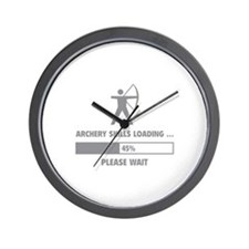 Archery Skills Loading Wall Clock
