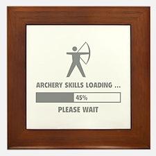 Archery Skills Loading Framed Tile