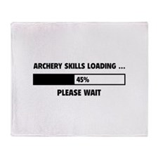 Archery Skills Loading Throw Blanket